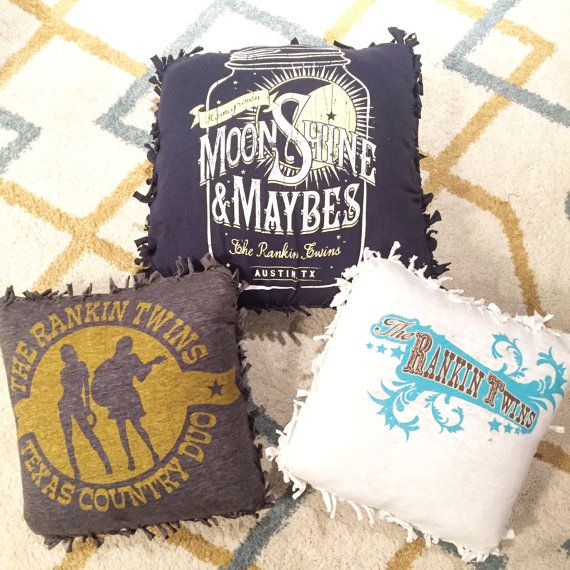Band Tshirt Pillows by TheRankinTwins on Etsy