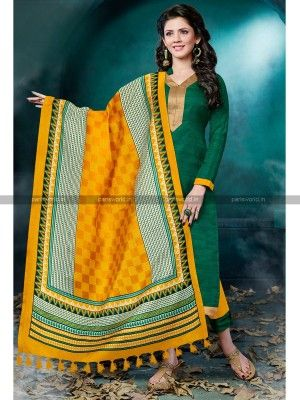 Eid salwar kameez  Green Bhagalpuri Classy Casual Salwar Kameez  collection for Eid 215