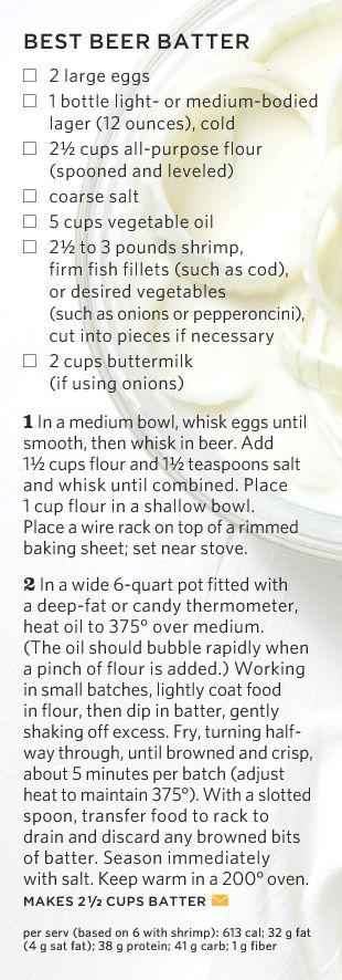 Beer Batter Recipe