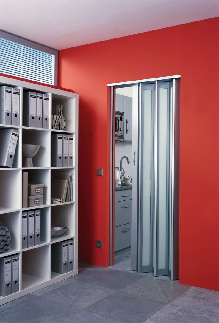 Ultra modern in style. Halo™ Aluminum accordion door from the Panelfold Nuvo Designer Series Gallery - laundry room