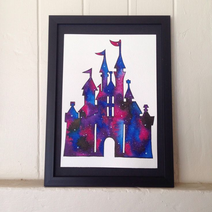 A personal favorite from my Etsy shop https://www.etsy.com/listing/221788785/disney-castle-galaxy-watercolour