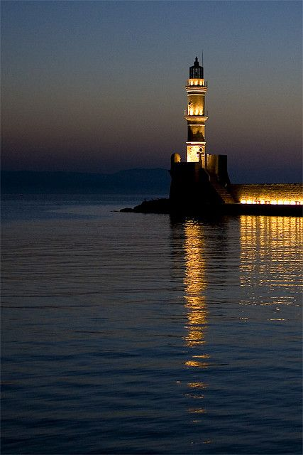 Chania lighthouse, Greece ~ by macropoulos, via Flickr