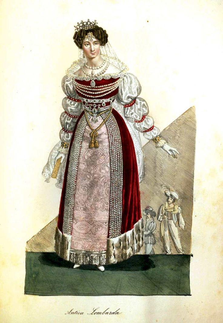 COSTUMI VESTITI ALLA FESTA DA BALLO DATA IN MILANO DAL NOBILISSIMO SIGNOR CONTE GIUSEPPE BATTHYANY LA SERA DEL 30 GENNAIO 1828. by (Milano), (presso Gius. Elena Strada S. Sofia N. 4411), (1828) In folio (mm. 400x258), mz. pelle con ang. coeva, tit. oro su tassello al dorso, 1 c.nn. (dedica dell'Editore al Conte Antonio Giuseppe Batthyany, Ciambellano di S.M.I.R.Ap.) e 1 c.nn., ... more Offered By Libreria Malavasi sas