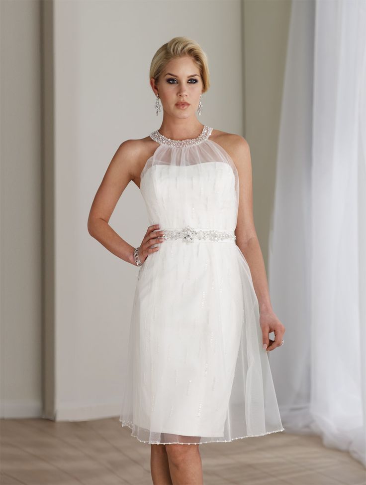 Beautiful dress for renewing our vows...just would like it long