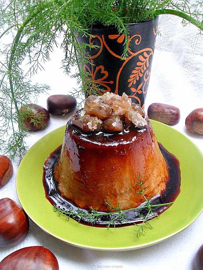 Con sabor a canela: Flan de castañas gallegas