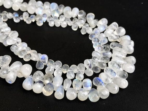 Rainbow Moonstone Beads Moonstone Plain Tear Drop by gemsforjewels