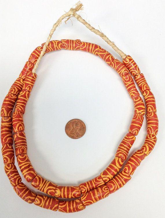Krobo zen africano Gana artesanais fantasia grânulos de vidro comerciais