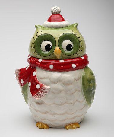 Owl Cookie Jar by Sugar High Social #zulily #zulilyfinds