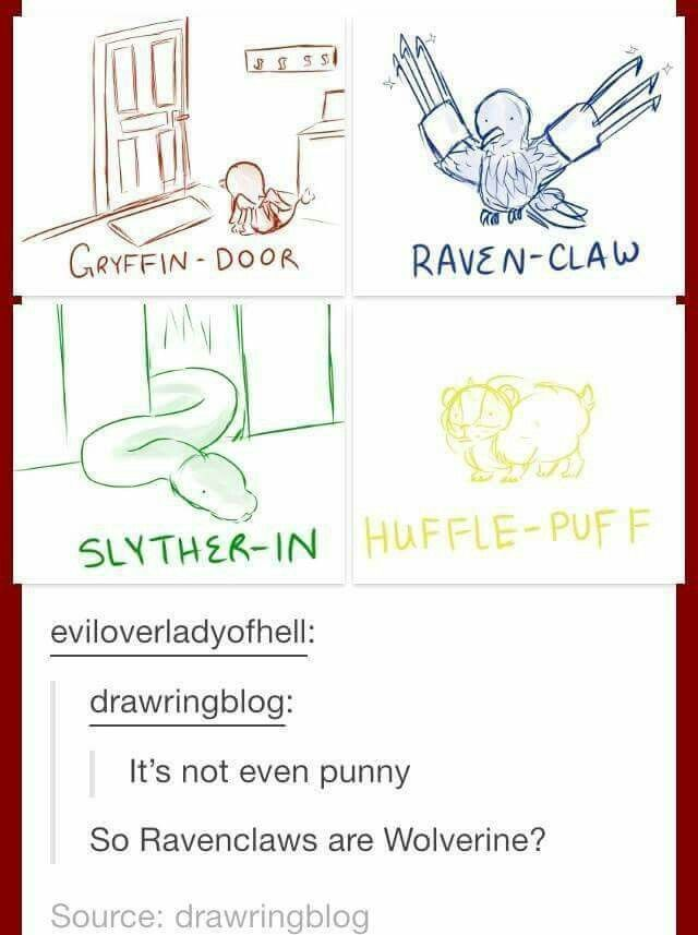 Kinda jealous of Ravenclaw right now. . .