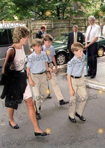 C/n M019594 Princess Diana with Prince Wiliam and Harry/ Henry at the Royal Tournament, Earls Court, London 07/26/1995 Photo by Dance Chancellor/alpha/Globe Photos