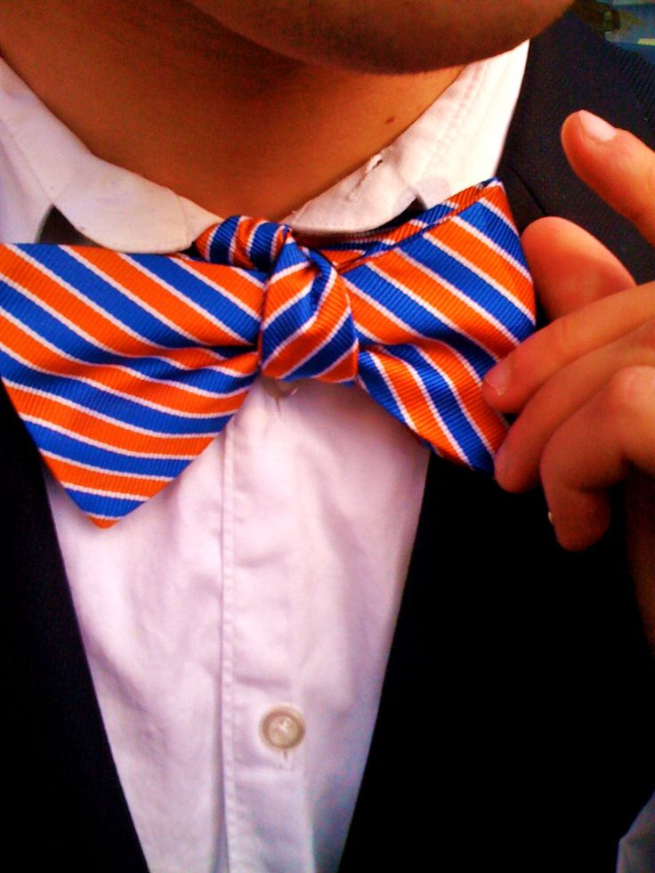 Southern and preppy in orange and blue
