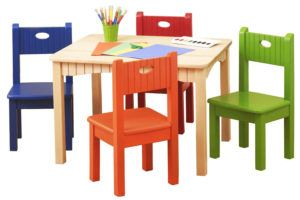 ChildrenS Folding Table & Folding Chairs Furniture Set By Bracelet Babies