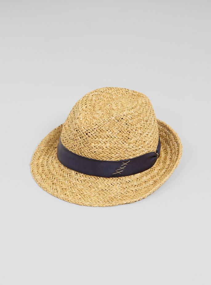 Couverture and The Garbstore - Womens - FESTIVAL ESSENTIALS - 2388 PP Straw Trilby Hat