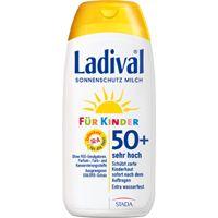 Sonnenmilch für Kinder von Ladival schützt mit dem großzügigen Lichtschutzfaktor 50 auch die empfindlichste Haut. Sonnenschutz bei Kindern und Babys darf nie fehlen!