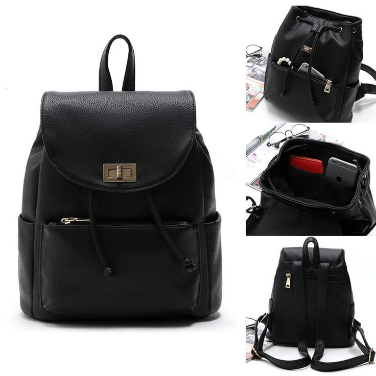 17 Best images about Black Leather Mini Backpacks on Pinterest ...