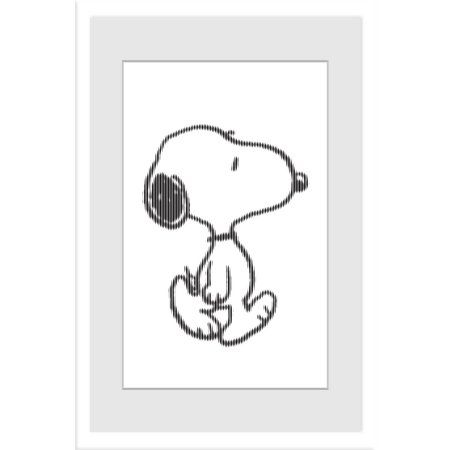 Marmont Hill Snoopy Character Peanuts Framed Art Print, Size: 20 inch x 30 inch, Multicolor