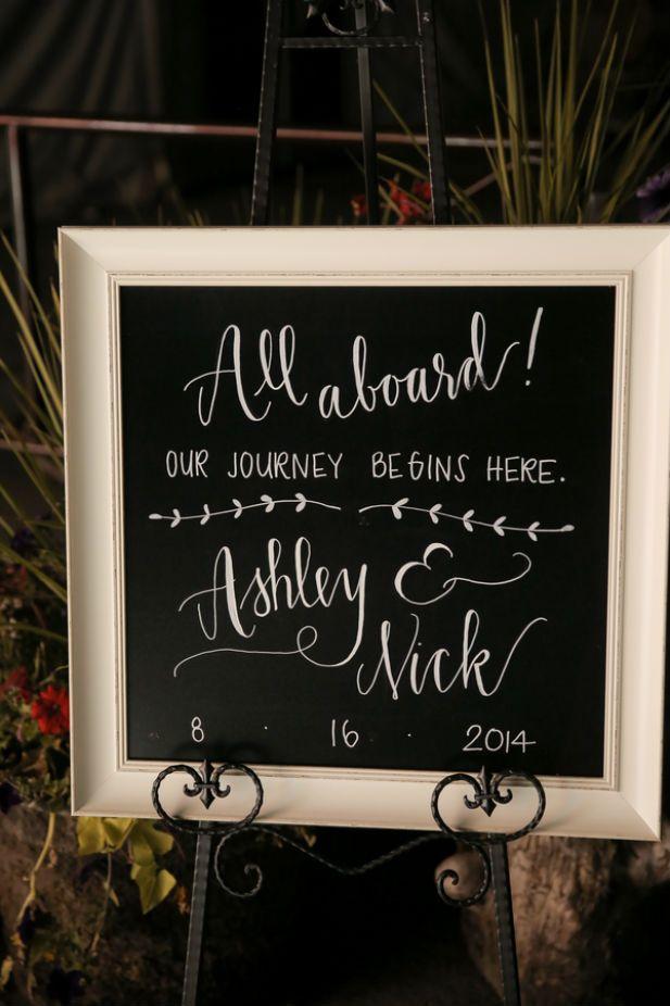 Cute chalk entrance sign (Pepper Nix Photography)