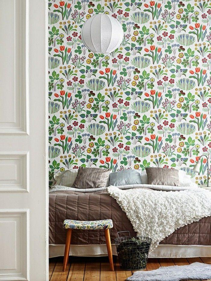 Pattern wallpaper of Fürs bedroom