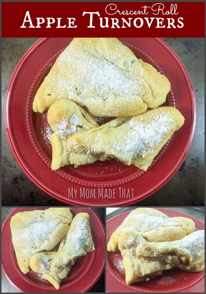 how to make apple turnovers with crescent rolls
