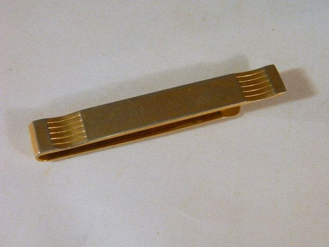 Swank Gold Tie Clip / Vintage 1950s Mens Wide Tie Clip / Mens Accessories / Mad Men Style by VintageBaublesnBits on Etsy