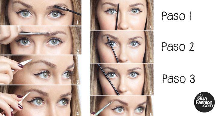 Perfila las cejas según tu rostro