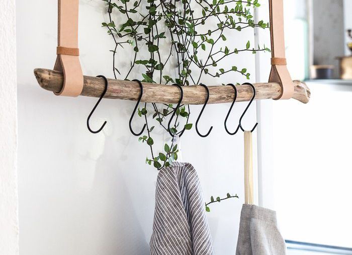 DIY: houten tak als kapstok