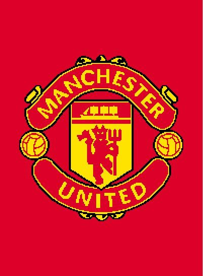 Manchester United graphghan pattern by CraftingByKirsti on Etsy, $5.00