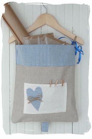 Linen hanger storage pouch