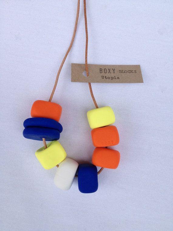 Boxy necklace