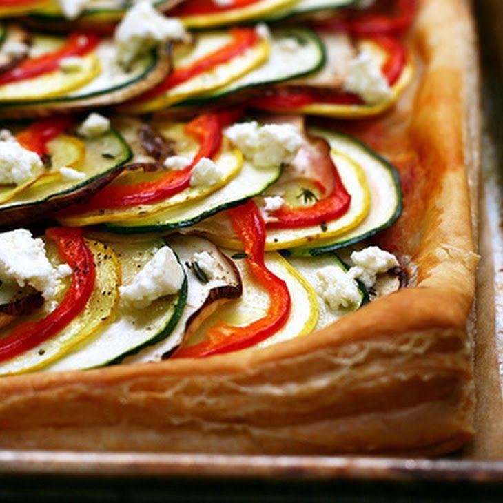 Ratatouille Tart   yummy food   Pinterest