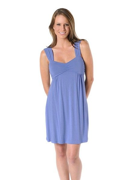 A perfect blend of style, comfort and fun. The Cleo Bamboo Nightgown features an empire waist, gathered bust and wide straps. A perfect match for our Bamboo Short Robe, making a perfect warm-weather gift for someone special. Yala bamboo clothing is known for its durability and wonderfully easy wash-and-wear nature.