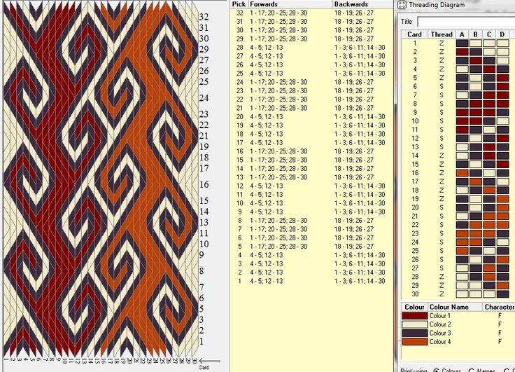 Rams horn 30 tarjetas, 4 colores, repite dibujo cada 8 movimientos  // Ramshorn5 ༺❁