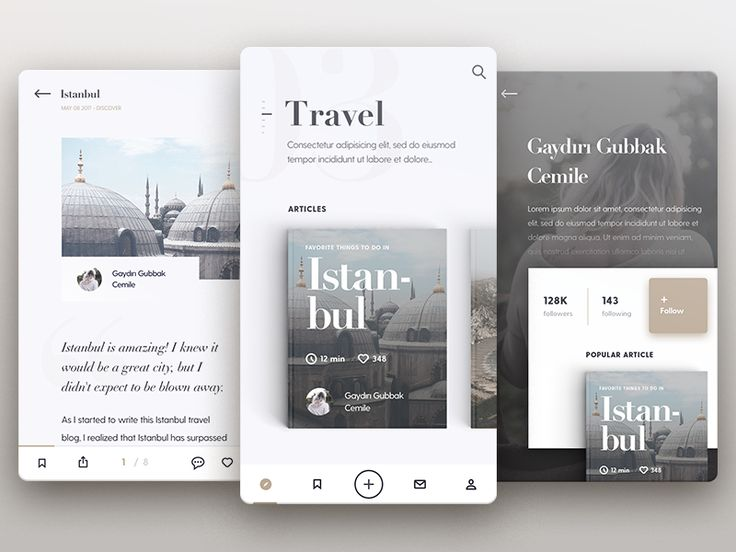 Mobile Blog App by Alper Tornaci