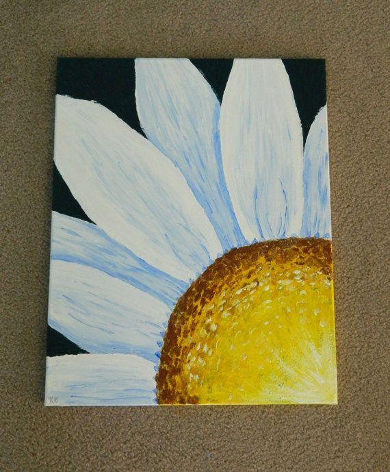 Original Daisy Painting by ArtByKatieE on Etsy, $75.00