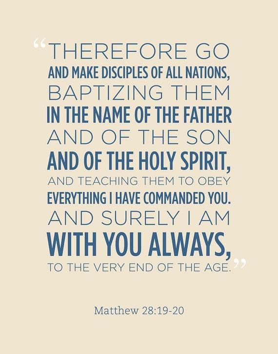 Matthew 28:19-20 Bible Verse Scripture 11x14 Poster Print - Wall Art on Etsy, $12.95