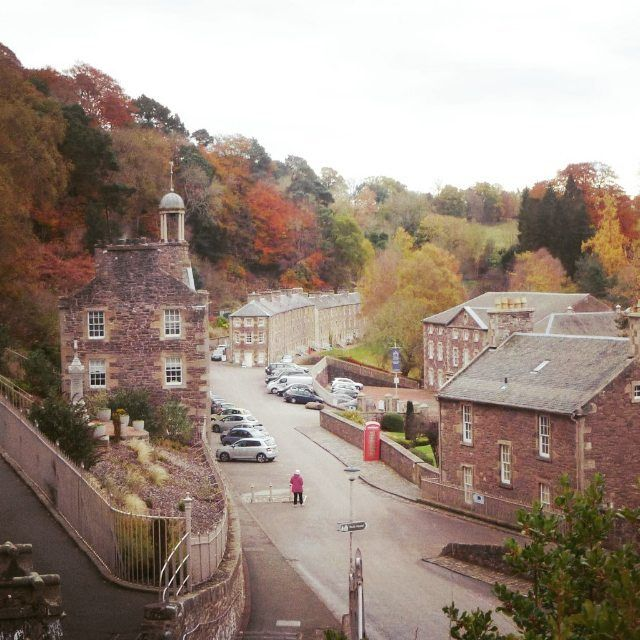 Still some wonderful autumn colours around today as we explored some of the interesting cotton mill history of New Lanark World Heritage Site, Scotland