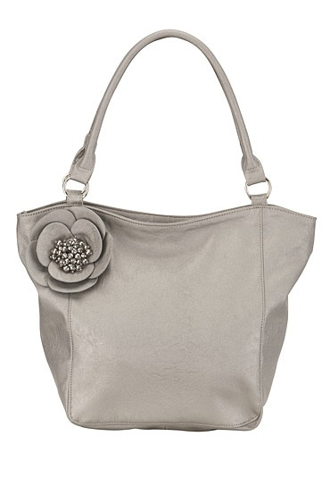 Silver Crystal Flower Bag available at #Maurices