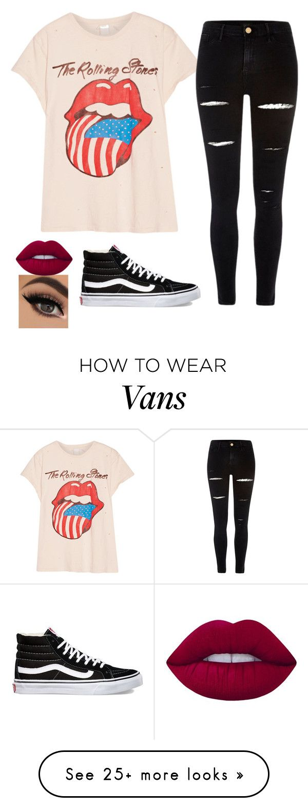 """Untitled #467"" by slytherin427 on Polyvore featuring MadeWorn, River Island, Vans and Lime Crime"