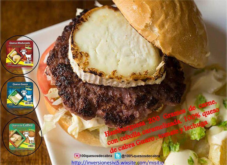 Hamburguesa con cualquieras de nuestras  presetaciones de Queso de Cabra