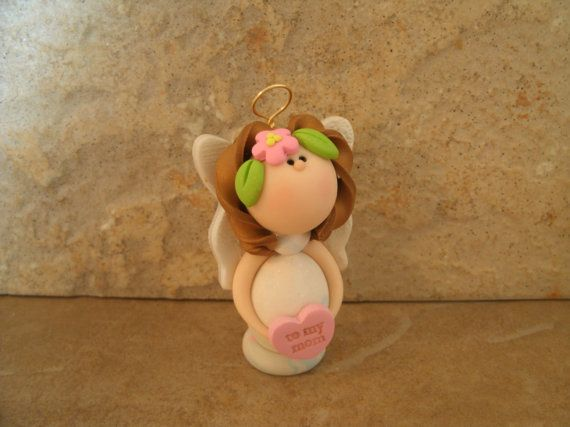 *POLYMER CLAY ~ Mothers Day Angel.