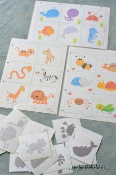 jeu d ombres à imprimer et plastifier
