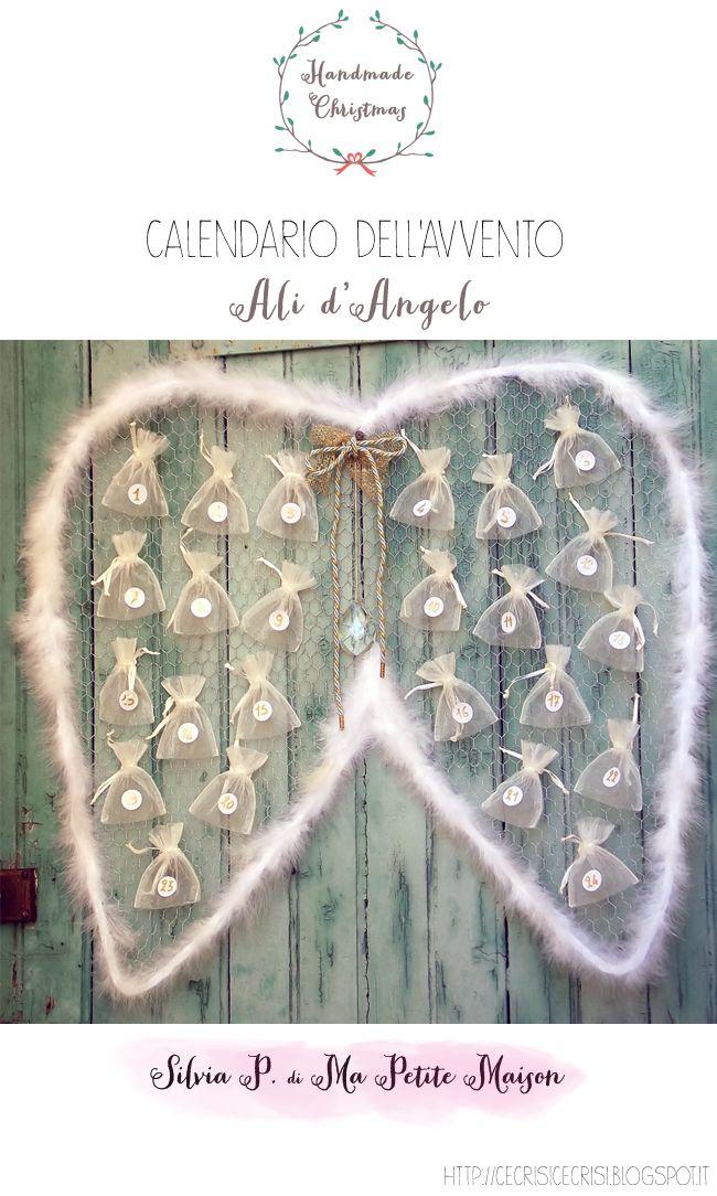 Calendario dell'Avvento a Forma di Ali d'Angelo