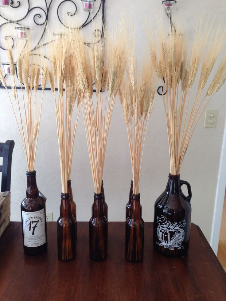25 best ideas about beer decorations on pinterest beer for Empty bottle decoration ideas