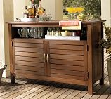 an outdoor buffet sideboard cabinet this one is not teak. Black Bedroom Furniture Sets. Home Design Ideas
