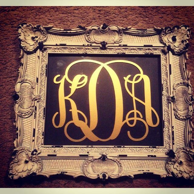 23 likes 5 comments luxe monograms luxemonogram on instagram - Monogram Picture Frame