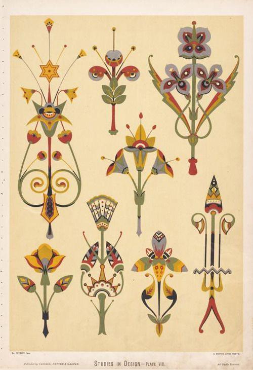 Christopher Dresser, Studies in Design, 1876. Via NYPL