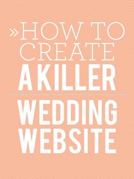 How To Create A Killer Wedding Website