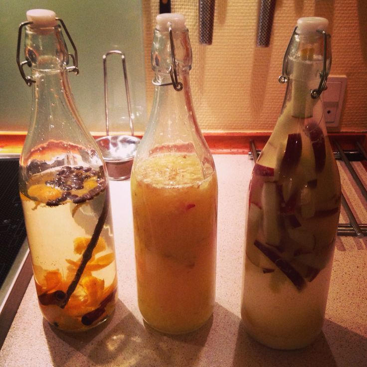 3 different spiced schnapps! The orange and cinnamon, ginger and chili and finally apple and horseradish