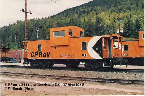 CP Caboose 434444 at Revelstoke BC, Sept 1986
