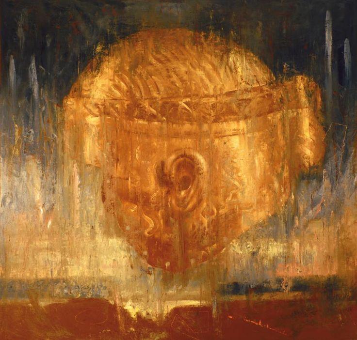 Omar Galliani Tristano, 1987 olio su tela, cm 280x280